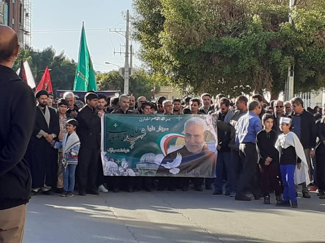 گزارش تصویری مراسم امروز مردم بوشهر در سوگ شهید قاسم سلیمانی