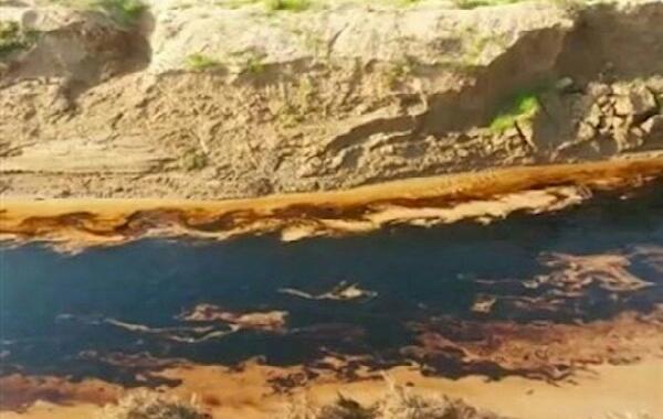 ناکارامدی مسوولان نفتی فاجعه ای دیگر رقم زد/چرا نفت به رودخانه گناوه رسید؟